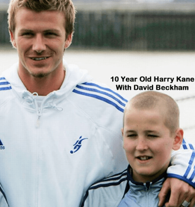 10-Year-Old-Harry-Kane-with-his-teacher-David-Beckham